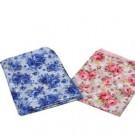 환자용앞치마/꽃무늬(파랑)